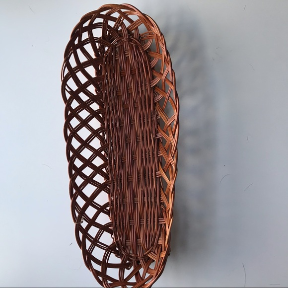 Vintage wooden bread loaf basket